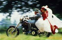 Свадьба на мотоцикле
