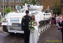 На танке за невестой