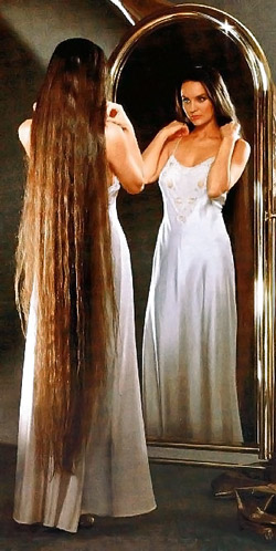 Длинные волосы