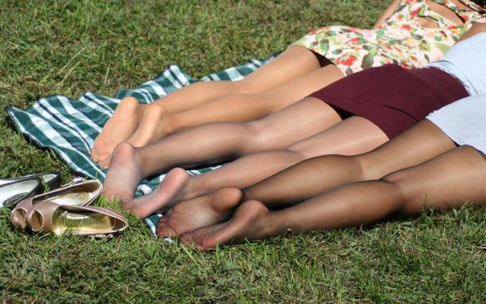 Колготки на ножках